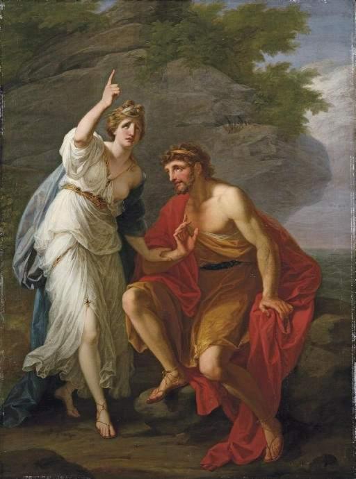 the relationship between odysseus and kalypso in john denvers song calypso