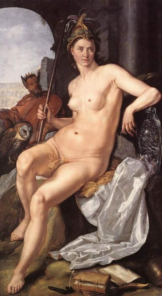 Гарофалдо (Бенвенуто Тизи), Посейдон и Афина, 1512
