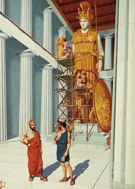 Статуя афины фидий